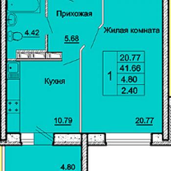 ЖК Андриановский (Орёл) – планировка №1