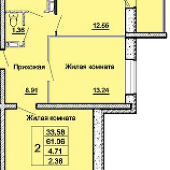 ЖК Андриановский (Орёл) – планировка №3