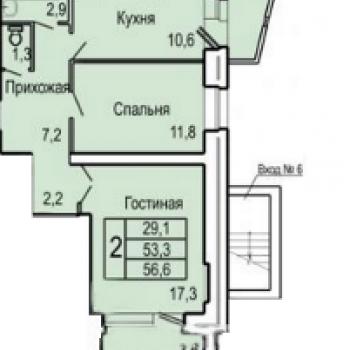 ЖК Северная звезда (Орёл) – планировка №3
