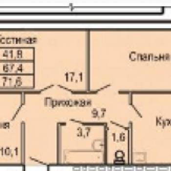 ЖК Северная звезда (Орёл) – планировка №2