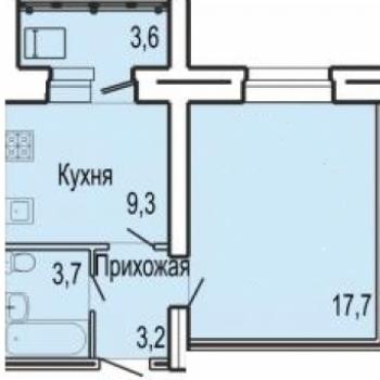 ЖК Северная звезда (Орёл) – планировка №1
