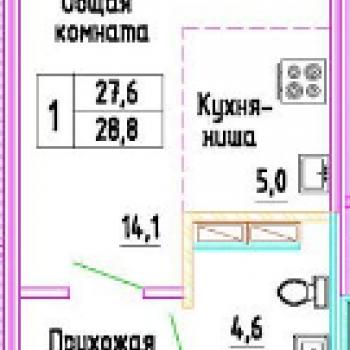 ЖК Разградский (Орёл) – планировка №1