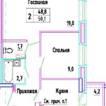 ЖК Разградский (Орёл) – планировка №3