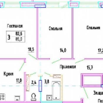 ЖК Разградский (Орёл) – планировка №2