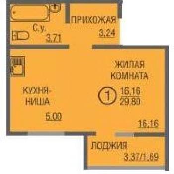ЖК Времена года (Оренбург) – планировка №2