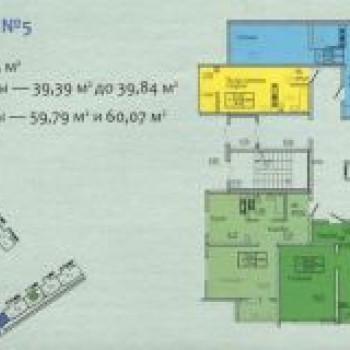 ЖК 15Б микрорайон (Оренбург) – планировка №1