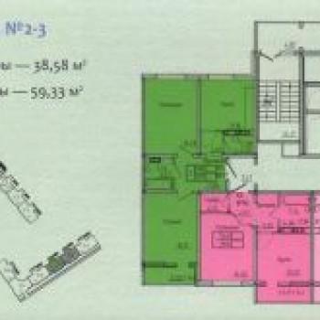 ЖК 15Б микрорайон (Оренбург) – планировка №2
