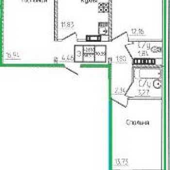 ЖК Фаренгейт (Оренбург) – планировка №2