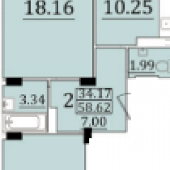 ЖК Новый квартал (Оренбург) – планировка №2