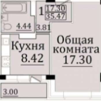 ЖК Новый квартал (Оренбург) – планировка №1