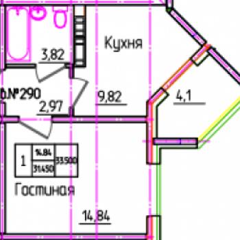 ЖК Виктория (Оренбург) – планировка №1