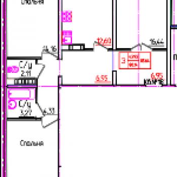 ЖК Виктория (Оренбург) – планировка №2