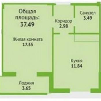 ЖК Любимый квартал (Оренбург) – планировка №1