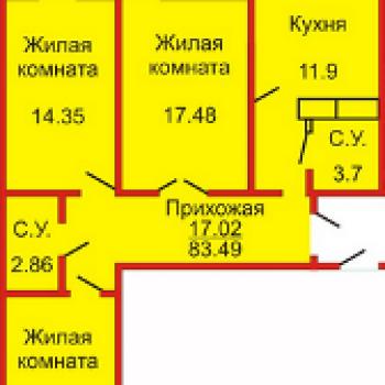 ЖК Оренбуржье (Оренбург) – планировка №2