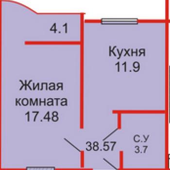 ЖК Оренбуржье (Оренбург) – планировка №1
