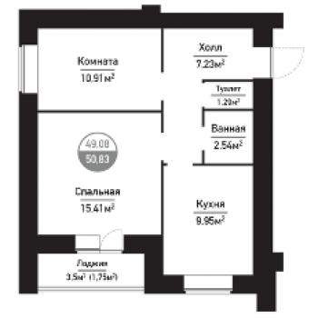 ЖК Привилегия (Пенза) – планировка №3