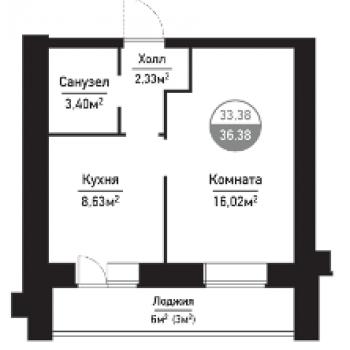 ЖК Привилегия (Пенза) – планировка №1