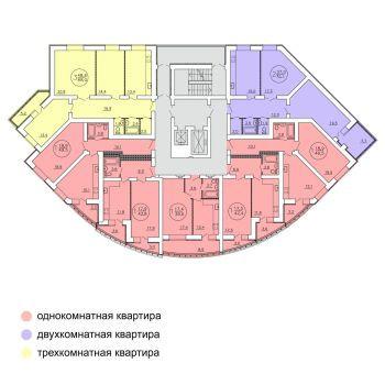 ЖК на Куйбышева (Пенза) – планировка №1