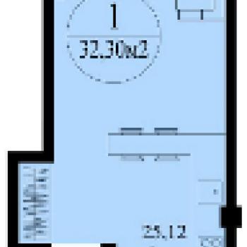 ЖК Изумрудный (Пермь) – планировка №1