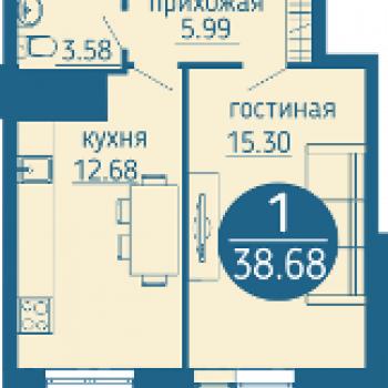 ЖК Выше мира (Пермь) – планировка №1