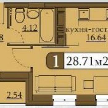 ЖК Клевер (Пермь) – планировка №1