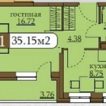 ЖК Клевер (Пермь) – планировка №4