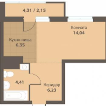 ЖК Компаунд Живаго (Пермь) – планировка №1