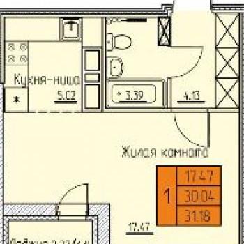 ЖК Дом на Луньевской (Пермь) – планировка №1