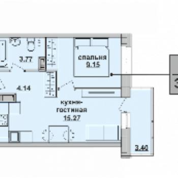 ЖК Пионер (Пермь) – планировка №3