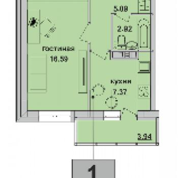 ЖК Пионер (Пермь) – планировка №4