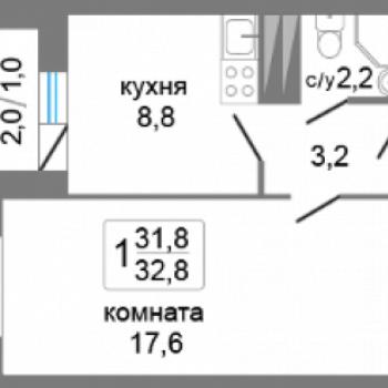 ЖК Т-Сити (Пермь) – планировка №2