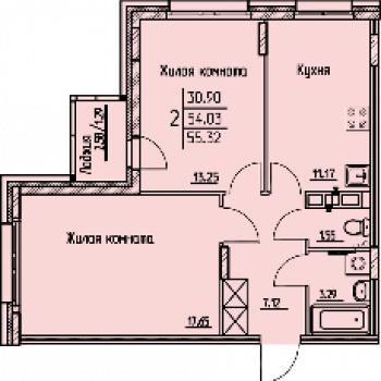 ЖК на Гастелло (Пермь) – планировка №3