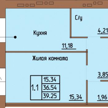ЖК Пушкин (Пермь) – планировка №4