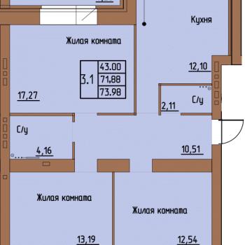 ЖК Пушкин (Пермь) – планировка №2