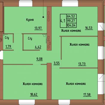 ЖК Пушкин (Пермь) – планировка №1