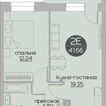 ЖК Дуэт (Пермь) – планировка №5