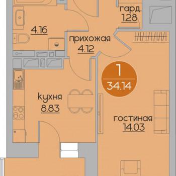 ЖК Дуэт (Пермь) – планировка №2
