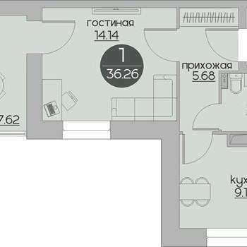 ЖК Дуэт (Пермь) – планировка №1