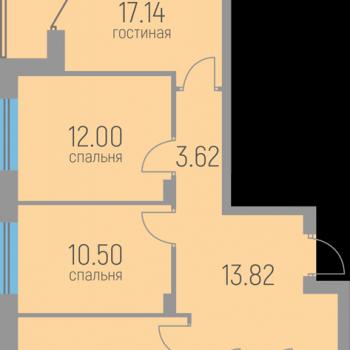 ЖК Витражи (Пермь) – планировка №7