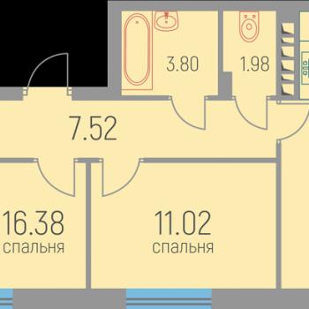 ЖК Витражи (Пермь) – планировка №6