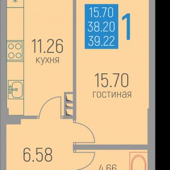 ЖК Витражи (Пермь) – планировка №3