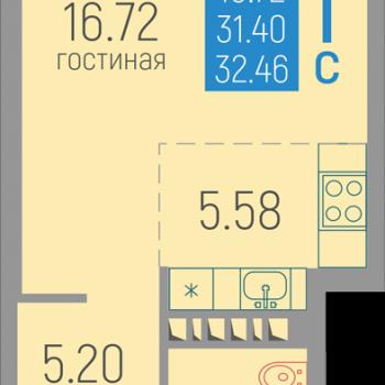 ЖК Витражи (Пермь) – планировка №2