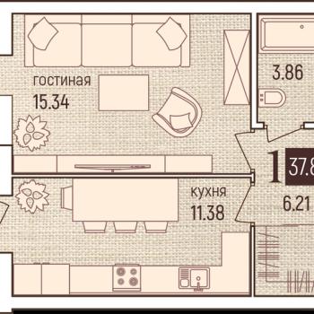 ЖК Бавария (Пермь) – планировка №2