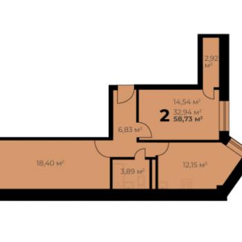 Дом на ул. Цимлянская (Пермь) – планировка №1