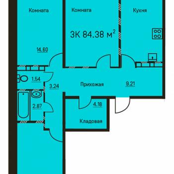 Дом на ул. 5-ая Каховская (Пермь) – планировка №2