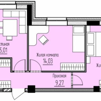 ЖК Дом Фреш (Пермь) – планировка №2