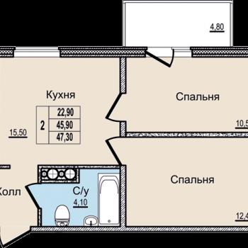 ЖК Молодежный (Псков) – планировка №5