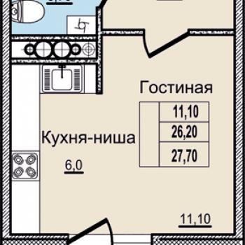 ЖК Молодежный (Псков) – планировка №3