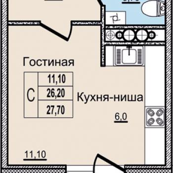 ЖК Молодежный (Псков) – планировка №1