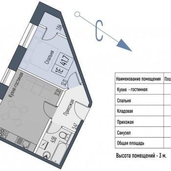 ЖК ТЭЦ на Великой (Псков) – планировка №1